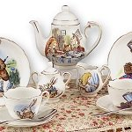 Alice in Wonderland Tea Set med