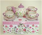 Love Grows Tea Set for 4 NO BOX