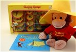 Curious George in Hat w/Teaset and Camping Book