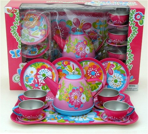 tin wood and plastic childrens tea sets. Black Bedroom Furniture Sets. Home Design Ideas