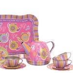 Musical Teapot Tin Tea Set
