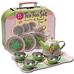 Childs Tin Tea Set in Case
