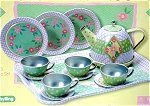 Tin Tea Set for 4